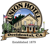 Union Hotel in Occidental, CA.